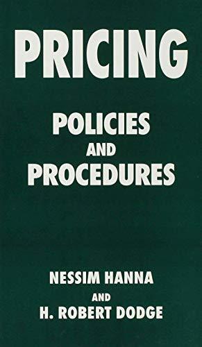 9780333611258: Pricing: Policies and Procedures