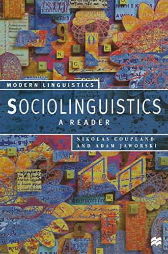 9780333611807: Sociolinguistics: A Reader and Coursebook (Palgrave Modern Linguistics)
