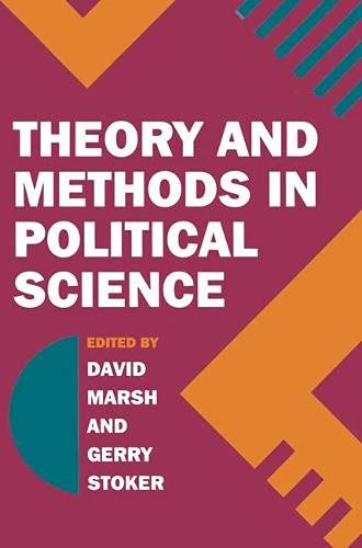 9780333614600: Theory and Methods in Political Science