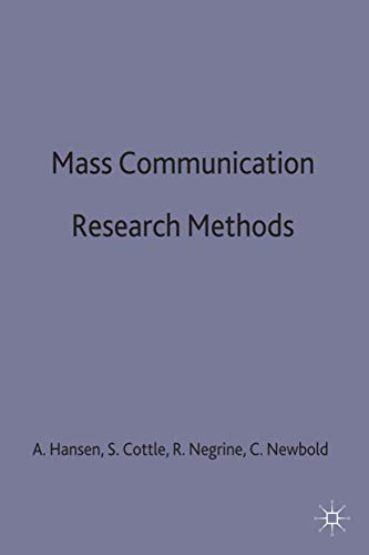 9780333617090: Mass Communication Research Methods