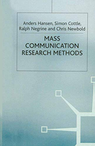 9780333617106: Mass Communication Research Methods