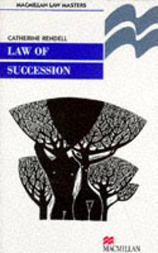 9780333617359: Law of Succession (Language, Discourse, Society)