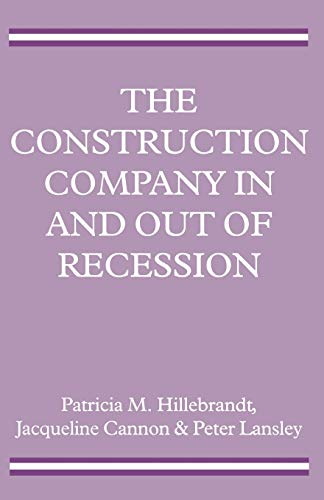 9780333617717: The Construction Company in and out of Recession