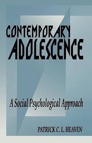 9780333618745: Contemporary Adolescence: A Social Psychological Approach