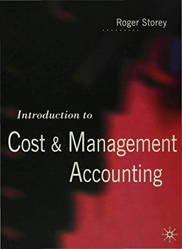 9780333623183: Introduction to Cost and Management Accounting