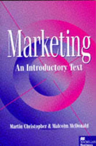 9780333625873: Marketing: An Introductory Text