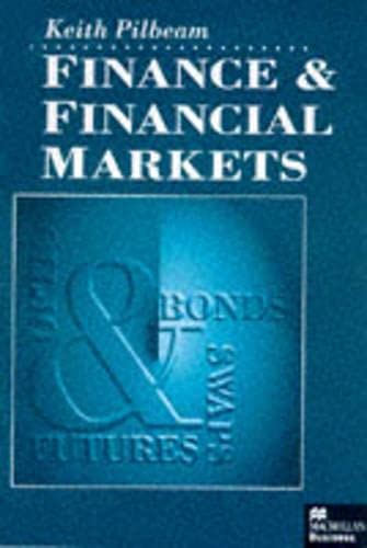 9780333629451: Finance and Financial Markets