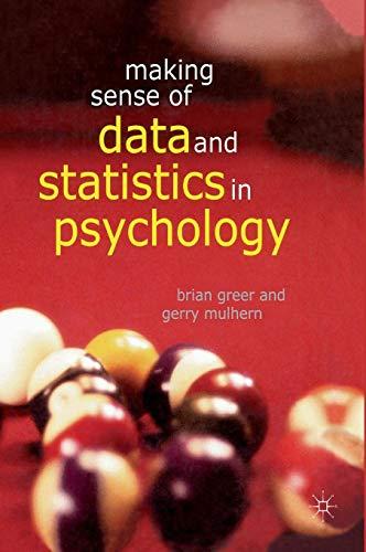 9780333629680: Making Sense of Data and Statistics in Psychology