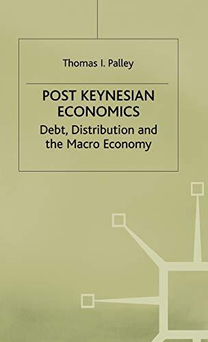 9780333630594: Post Keynesian Economics: Debt, Distribution and the Macro Economy