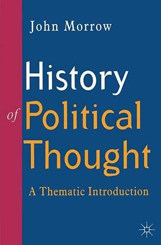 9780333632215: History of Political Thought: A Thematic Introduction