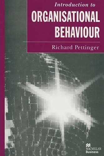 9780333639207: Introduction to Organisational Behaviour (Macmillan Business)