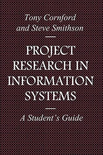 9780333644218: Project Research in Information Systems: A Student's Guide (Macmillan Information Systems)