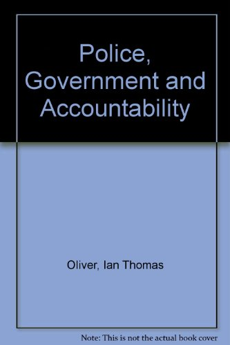 9780333647066: Police, Government and Accountability