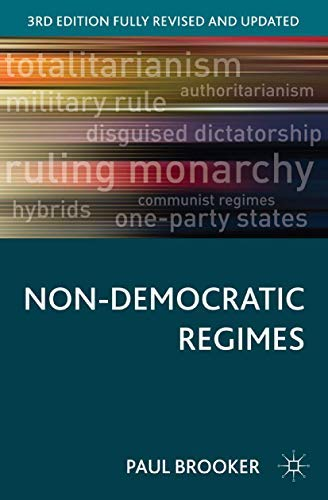 9780333660799: Non-Democratic Regimes:Theory, Government and Politics (Comparative Government & Politics)