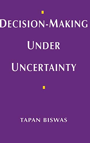 9780333662601: Decision-making Under Uncertainty