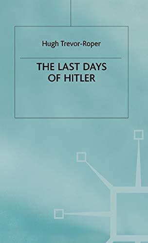 9780333662915: Last Days of Hitler