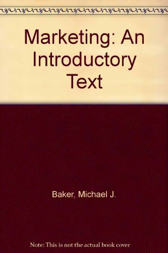 9780333663226: Marketing: An Introductory Text