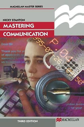 9780333665091: Mastering Communication (Palgrave Master Series)