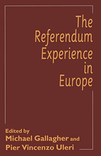 9780333670187: The Referendum Experience in Europe
