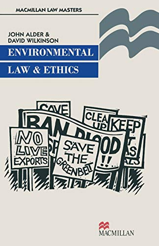 9780333674918: Environmental Law and Ethics (Palgrave Law Masters)