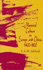 9780333690826: Material Culture in Europe and China, 1400-1800: The Rise of Consumerism