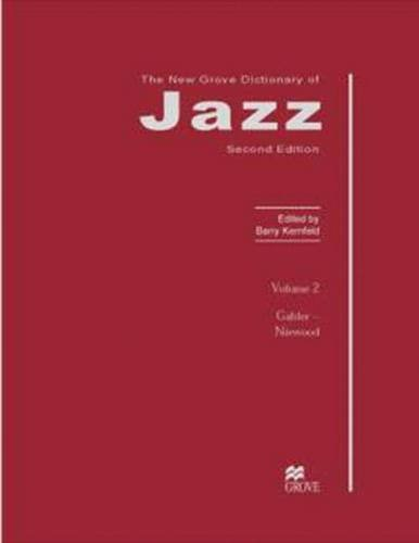9780333691892: The New Grove Dictionary of Jazz