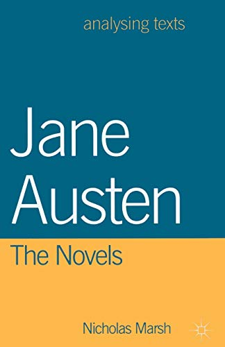 9780333693773: Jane Austen: The Novels (Analysing Texts)