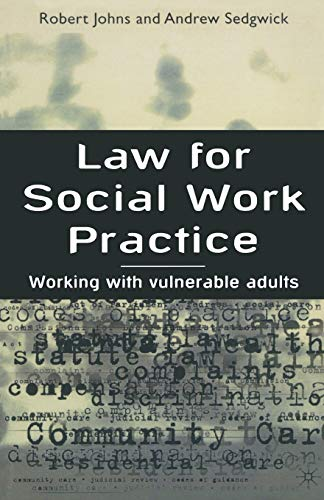 9780333693780: Law for Social Work Practice: Working with Vulnerable Adults