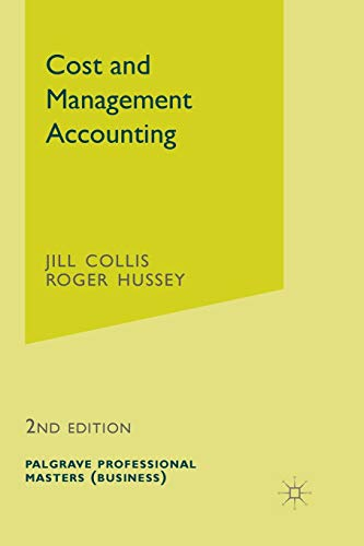 COST AND MANAGEMENT ACCOUNTING (BUSINESS MASTERS S.)