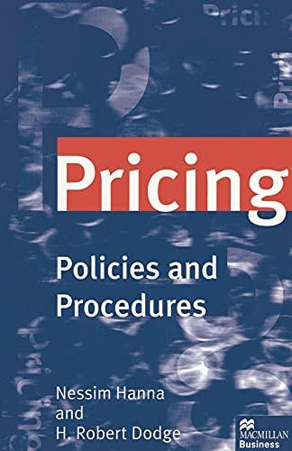 9780333694138: Pricing: Policies and Procedures
