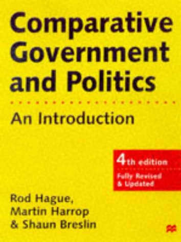 9780333696323: Comparative Government and Politics: An Introduction