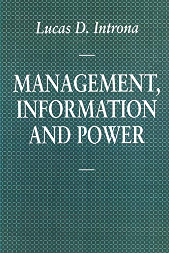 9780333698709: Management, Information and Power: A narrative of the involved manager (Information Systems Series)