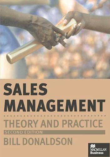 9780333710432: Sales Management: Theory and Practice
