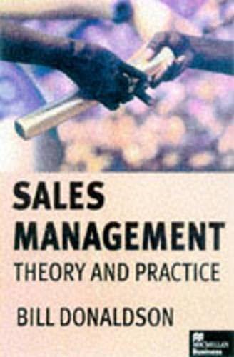 9780333710449: Sales Management