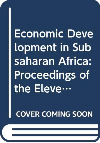 9780333712429: Economic Development in Subsaharan Africa: Proceedings of the Eleventh World Congress of the International Economic Association, Tunis