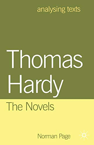 9780333716175: Thomas Hardy: The Novels (Analysing Texts)