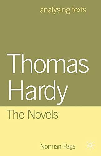 9780333716175: Thomas Hardy: The Novels (Analysing Texts)