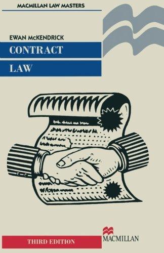 Contract Law: Mckendrick, Ewan