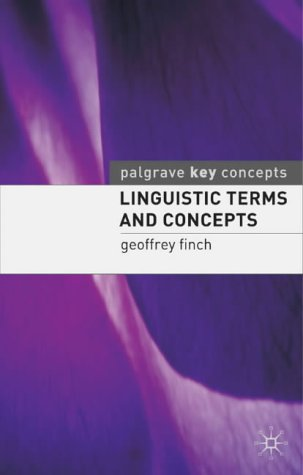 9780333720134: Linguistic Terms and Concepts (Macmillan Study Guides)