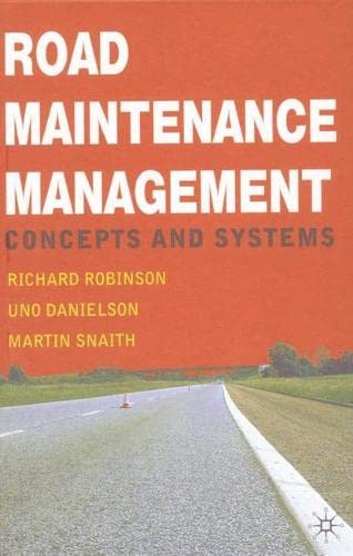 9780333721551: Road Maintenance Management: Concepts and Systems