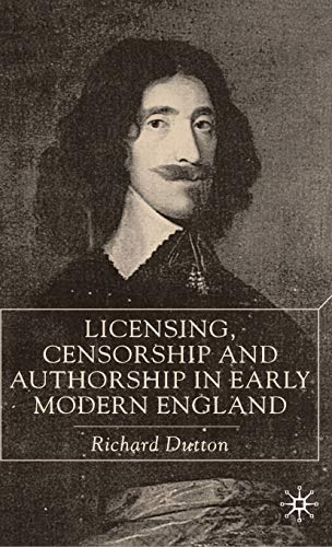 9780333721841: Licensing, Censorship and Authorship in Early Modern England: Buggeswords