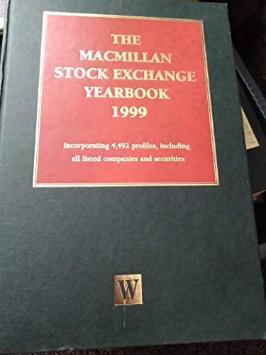 9780333726839: Waterlow Stock Exchange Yearbook, 1999: Incorporating 4,492 Profiles, Including All Listed Companies and Securitie S