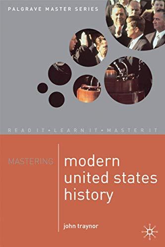 9780333730058: Mastering Modern United States History (Palgrave Master Series)