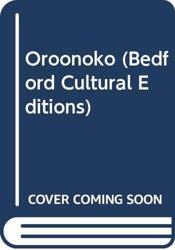 9780333730744: Oroonoko (Bedford Cultural Editions)