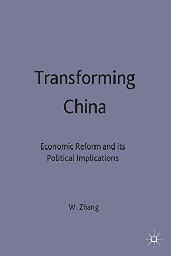 9780333735916: Transforming China: Economic Reform and Its Political Implications (Studies on the Chinese Economy)
