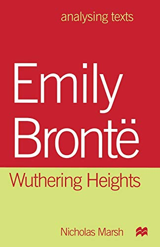 9780333737316: Emily Brontë: Wuthering Heights (Analysing Texts S)