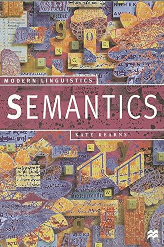 9780333738436: Semantics (Palgrave Modern Linguistics)