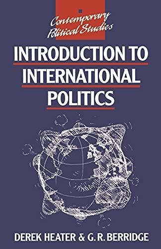 9780333739112: Introduction to International Politics (Contemporary Political Studies)
