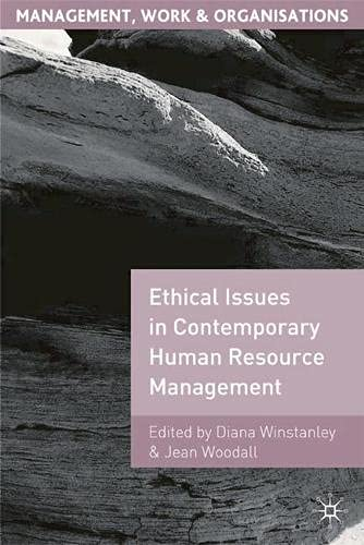 9780333739655: Ethical Issues in Contemporary Human Resource Management (Management, Work and Organisations)