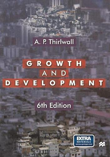 9780333746790: Growth and Development: With Special Reference to Developing Economies